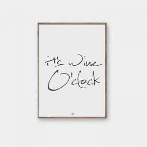 wine o'clock plakat